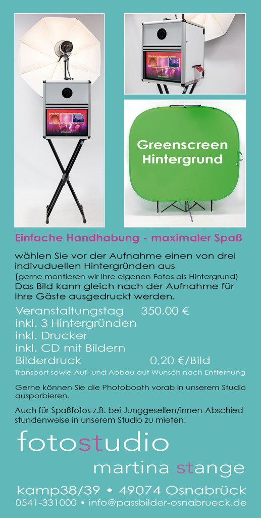 Photobooth Flyer hinten