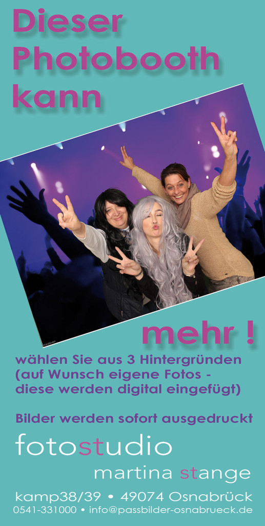 Photobooth Flyer vorne